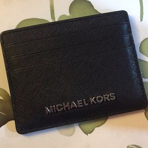 Michael Kors Saffiano Leather Card Holder Wallet